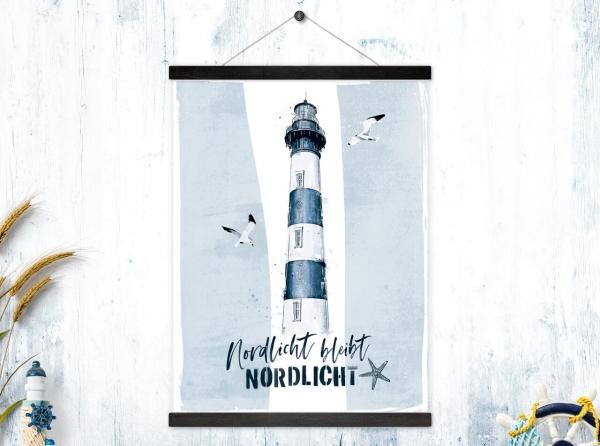 Kunstdruck mit magnetischen Posterleisten Nordlicht