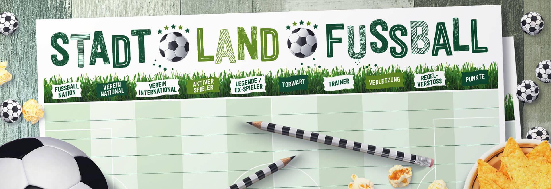 Stadt Land Fussball Spielblock A4