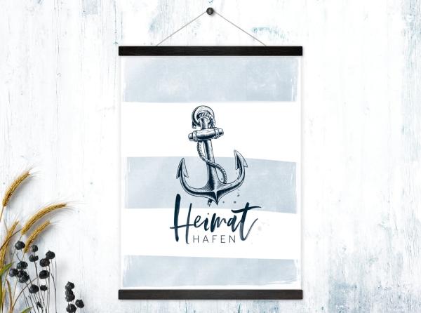 Kunstdruck mit magnetischen Posterleisten Heimathafen
