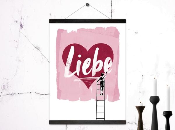 Kunstdruck Poster Liebe