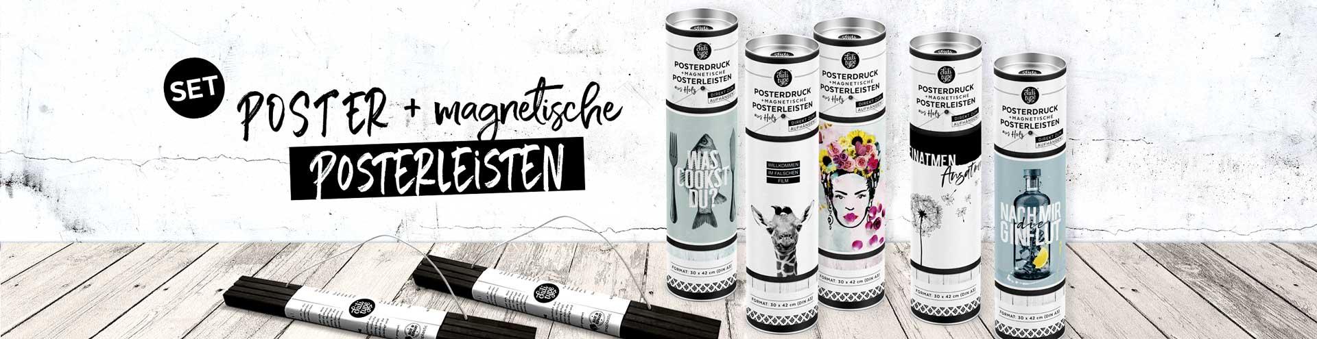 Kunstdruck + magnetische Posterleisten im Set