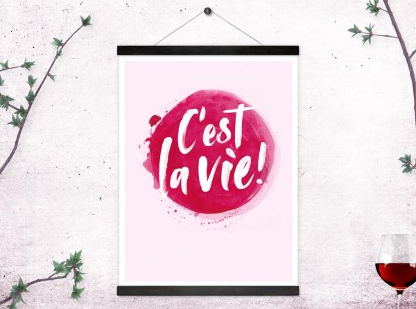 Kunstdruck C'est la vie