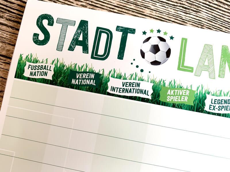 Stadt Land Fußball