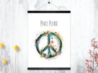 Kunstdruck Peace Please