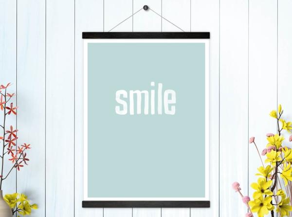 Kunstdruck Smile